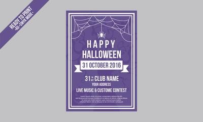 simple flyer halloween template vector modern typo