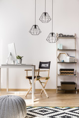 Simple style home office idea