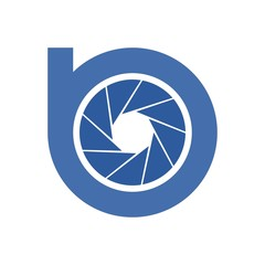 b initial photography logo design