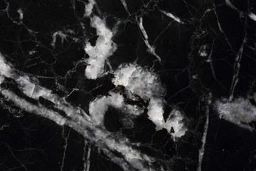 texture of black Marquina marble pattern