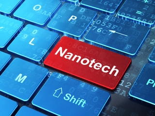 Science concept: Nanotech on computer keyboard background