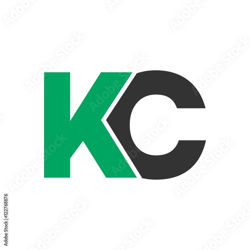 quotkc letter initial logo designquot stock image and royalty