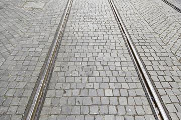 Old tram tracks