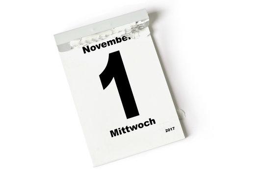 1. November 2017
