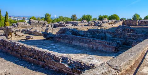 Italica Roman ruins in Seville. Andalucia. Spain.