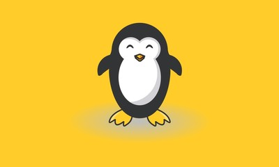 The Happy Penguin Logo Custom