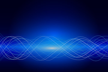 Abstract resonance wave background. Vector illustration.