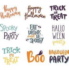 Halloween invitation cards vector.
