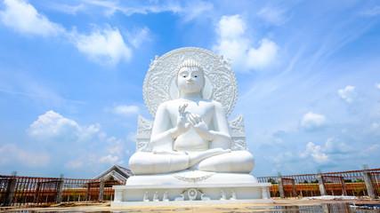 Big white buddha statue ,temple in Saraburi province, Thailand. Photo taken on: 02 Oct , 2016