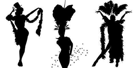 Vector cabaret dancers