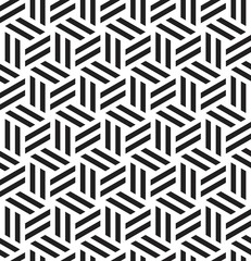 Vector seamless texture. Modern abstract background. Monochrome geometrical pattern with repeating hexagonal tiles.