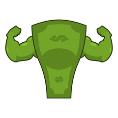 Strong dollar. Powerful cash. Potent money with big muscles. Han