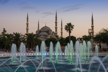 Sultan Ahmet Mosque on sunset