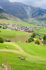 Rueras village in canton Graubunden, Switzerland