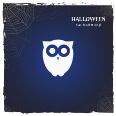 halloween owl. horror background