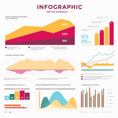Collection infographic vector elements. Use in website, flyer, corporate report, presentation, advertising, marketing etc.