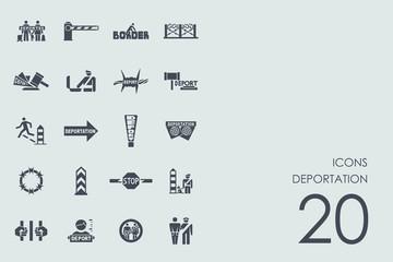 Set of deportation icons
