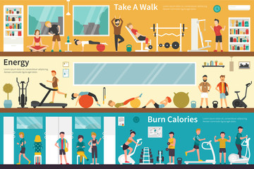Take A Walk Energy Burn Calories flat interior outdoor concept web