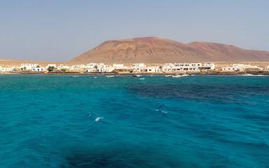 Coast of the island of La Graciosa.