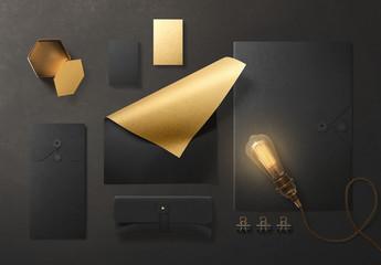 Gold Stationery Mockup 4