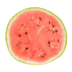slice of whole watermelon isolated on white background