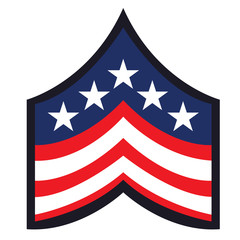 Isolated american badge