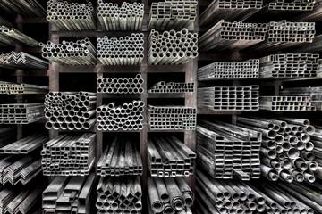 Extruded aluminum metal tubes, Hue, Vietnam