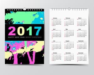 Cailendar Template for 2017 year.