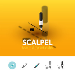 Scalpel icon in different style