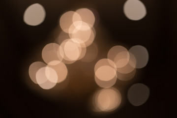 Beautiful bokeh in the night