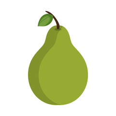 green pear fruit. healthy food natural. vector illustration
