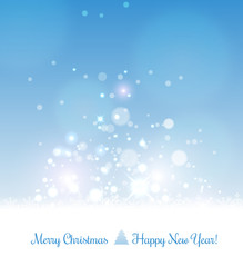 Merry Christmas background with snowflakes and light. Vector Illustration. xmas