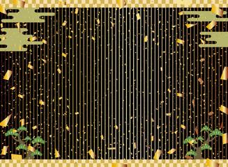 金箔 新年 ストライプ背景