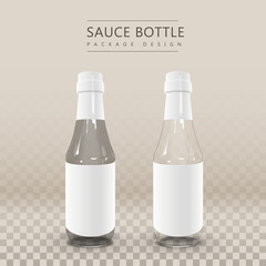 twin blank sauce bottle