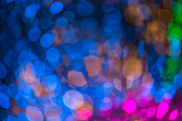 colorful abstract background with bokeh defocused lights