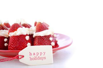 Christmas Strawberry Santas