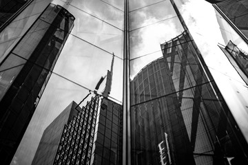 Modern architecture black and white