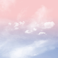 Rose Quartz and serenity tone sky with cloudy