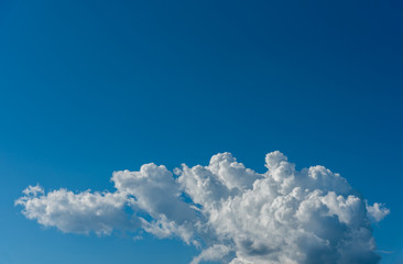image of blue sky and white clouds.