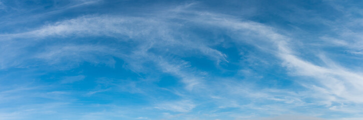 panorama image of blue clear sky.