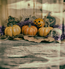 vintage tone image of Halloween background.