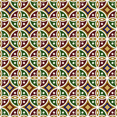 Vintage Islamic Style background, creative seamless pattern for