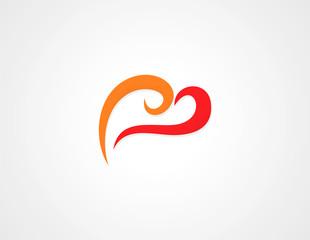 abstract love swirl logo