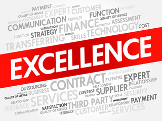 EXCELLENCE word cloud collage, business concept background