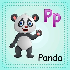 Animals alphabet: P is for Panda
