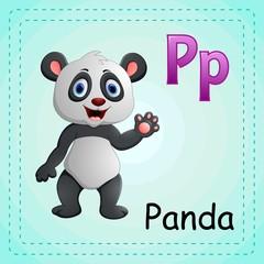 Animals alphabet: P is for Panda