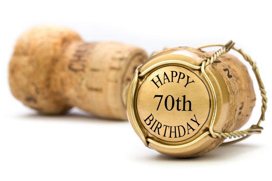 Happy 70th Birthday - Champagne