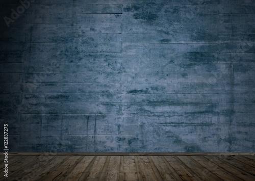 Dunkler Raum Mit Holzboden Und Betonwand Stockfotos Und Lizenzfreie