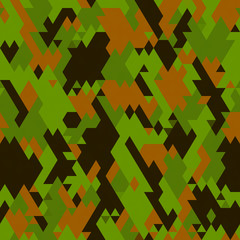 Abstract geometric camo pattern - digitally generated image