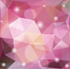 Vector abstract polygonal background.